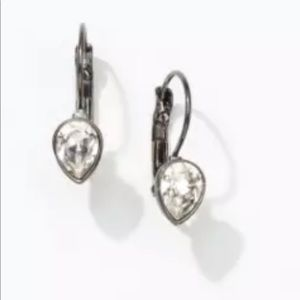 Touchstone Crystal tiny teardrop earrings BNIB